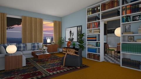Orange Carpet - Living room - by PomBom