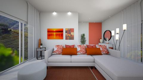 CORAL ROOM - Modern - Living room - by Cristiane Lichotto
