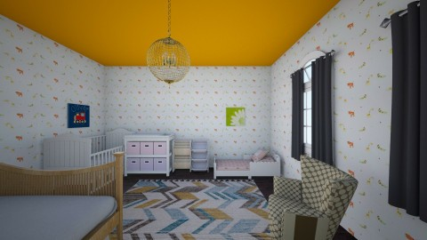 12 For child - Eclectic - Bedroom - by Agata_ody