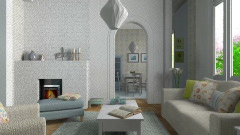 Soft colors - Classic - Living room - by Tuija