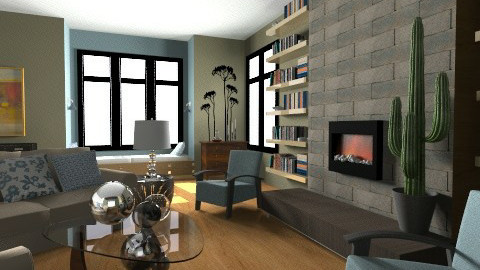 Evening at Home - Eclectic - Living room - by PomBom