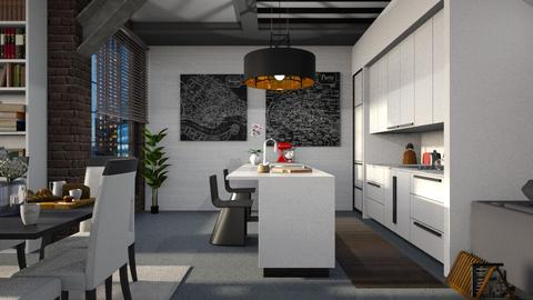 Open space - Kitchen - by Inna_Inas
