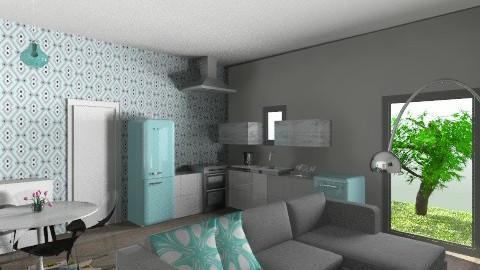 small living room kitchen - Modern - by Paulina Triantafyllou