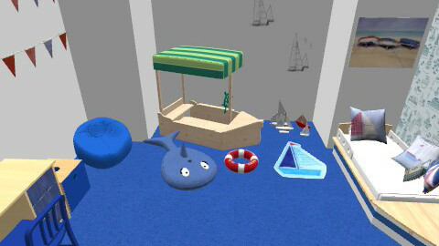 boys sailers room - Modern - Kids room - by lorenemma