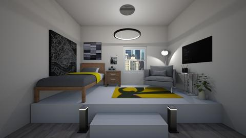 Platform Bedroom - Minimal - Bedroom - by lexilav