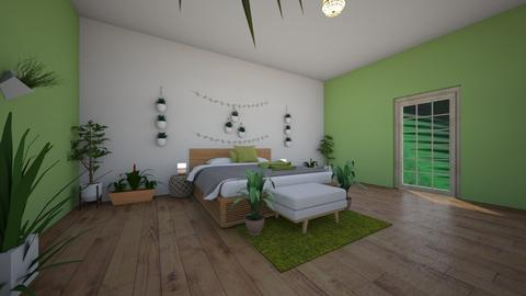 Urban Jungle Bedroom - Bedroom - by emmas004