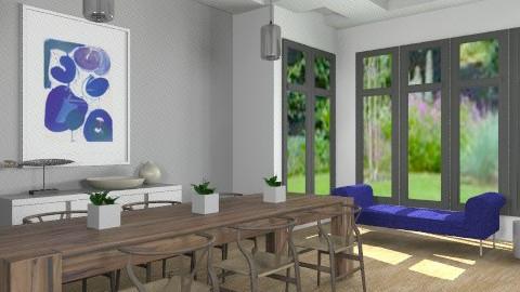 Grey Tones Dining Room - Minimal - Dining room - by LizyD