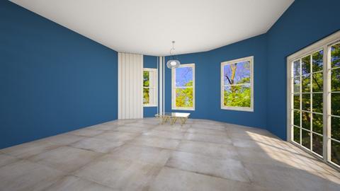 blue living room - Living room - by ewcia3666
