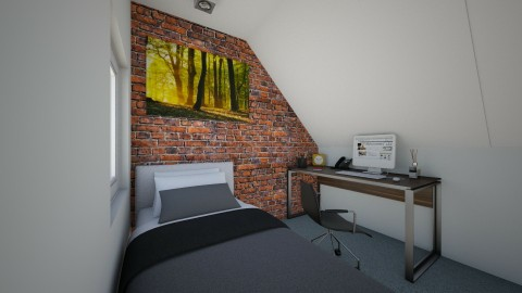 Attic Bedroom - Modern - Bedroom - by mrrhoads23