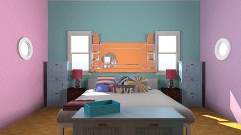 colorful - Bedroom - by katiebug1234
