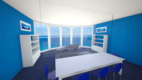 Blue Family Room - Modern - Living room - by P_C
