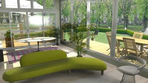 Bold color & view - Retro - Living room - by SarahMoreno