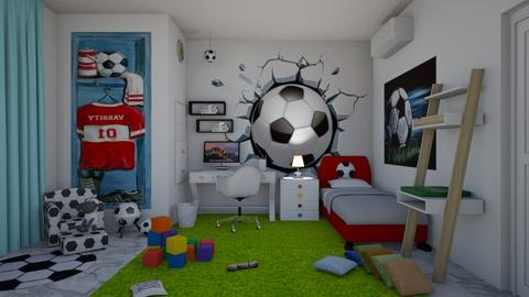 Football - Kids room - by matina1976