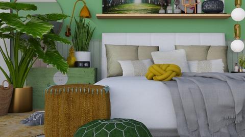 Green bedroom - Bedroom - by HenkRetro1960
