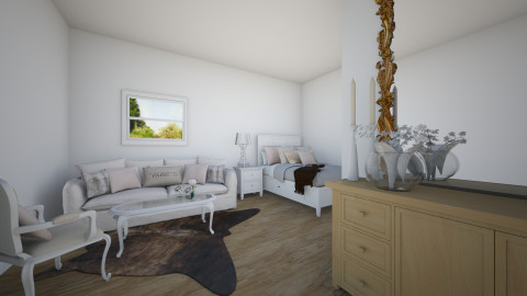 pinkwhitegoldbrownsilver - Bedroom - by qallin
