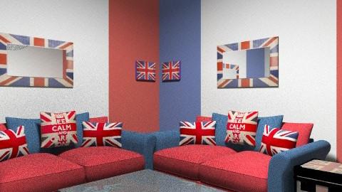 Union Jack Room - Living room - by cici45