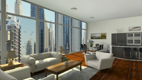 Chicago view  - Glamour - Living room - by GALE88