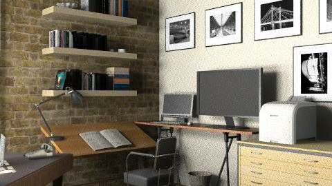 Loft - Office 2 - Eclectic - Office - by LizyD