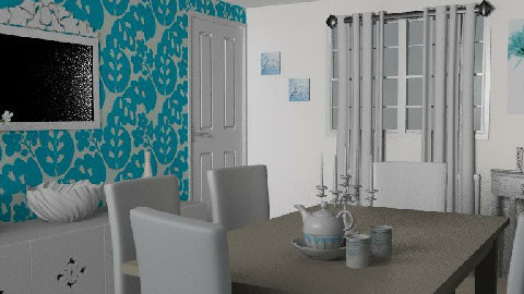 RR18_2 Blue. - Dining Room - by Midnight Mama