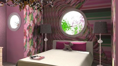 pink room - Feminine - Bedroom - by lovegirl1782