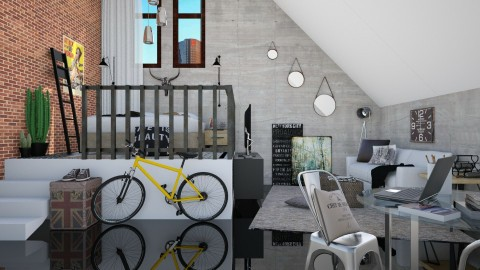 Small Loft - Eclectic - Bedroom - by DeborahArmelin