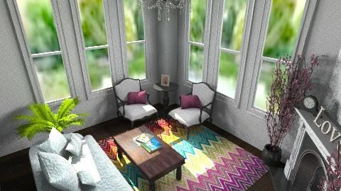 Elegant white room - Feminine - Living room - by Leigha Kay