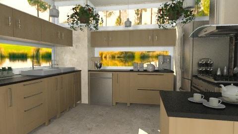 U Kitchen - Modern - Kitchen - by Bibiche