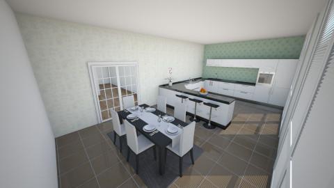 Kitchen Dine Barton House - Modern - Kitchen - by Katie Kins