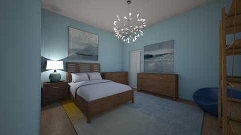 Beach Bedroom - Bedroom - by Callie Carlson_192