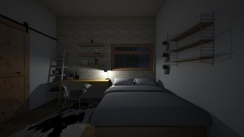 Studio appartment - Rustic - Bedroom - by kbaj