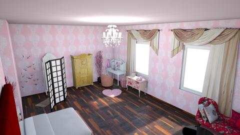 Excess of Pink Bedroom - Glamour - Bedroom - by KajsaRain