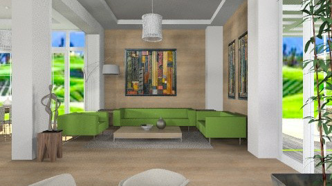 Wood LR - Modern - Living room - by liling