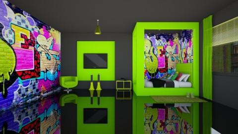 Graffiti Boys Room - Kids room - by creato