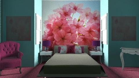 Blue and Pink bedroom - Feminine - Bedroom - by PaxAmor