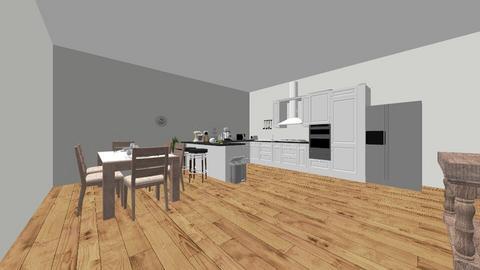 Kitchen floorplan design  - by Saundra_M