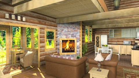 Logs_Logs_Logs - Rustic - Living room - by Bibiche
