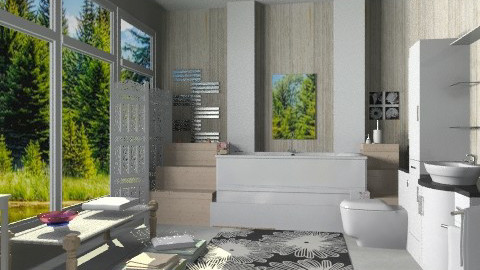 Screen - Eclectic - Bathroom - by milyca8