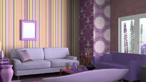 Purple Room - Living room - by creo_forma