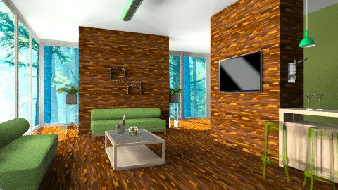 Slice of Lime - Living room - by Charlotte10