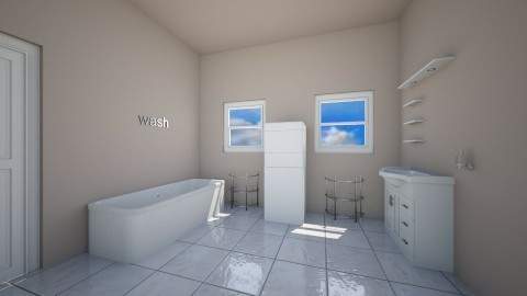 the bathroom - Bathroom - by blauwbeertje2002