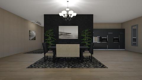 Modern Dark  - Modern - Dining room - by jammuek