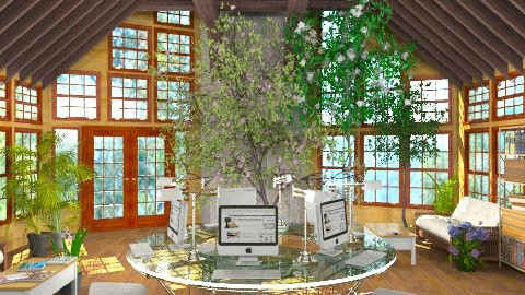Nature's Preservation Center - Rustic - Office - by Bibiche