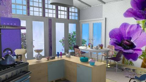 Fifties Fashion Finesse! - Retro - Kitchen - by Interiors by Elaine