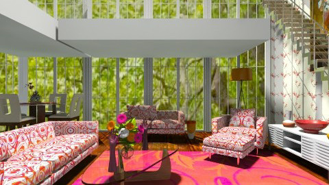 Springtime Living Room - Eclectic - Living room - by wiljun