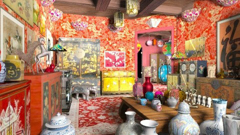 Dragonfly Chinese Store - Classic - Living room - by Bibiche
