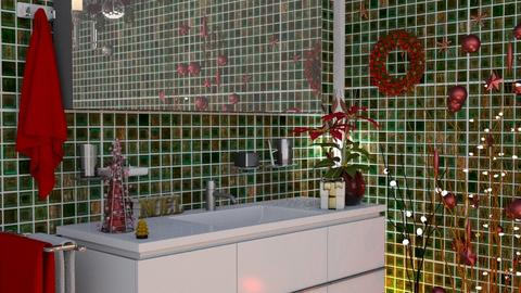 M_ Christmas bath - Bathroom - by milyca8
