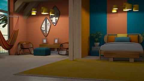 Hawaiian paradise - Global - Bedroom - by NEVERQUITDESIGNIT