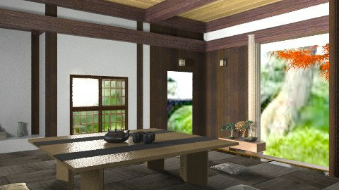 japanese rustic test 10 - Rustic - Living room - by Kjami