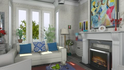 RWB - Eclectic - Living room - by dracul_a