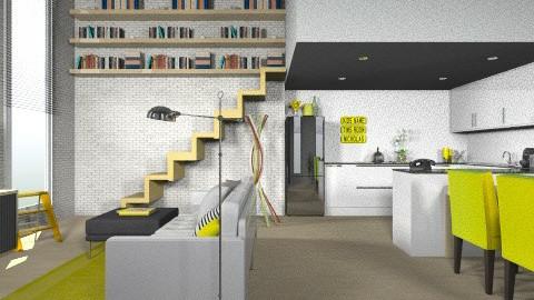american living room - Minimal - Kitchen - by everybodyfeel